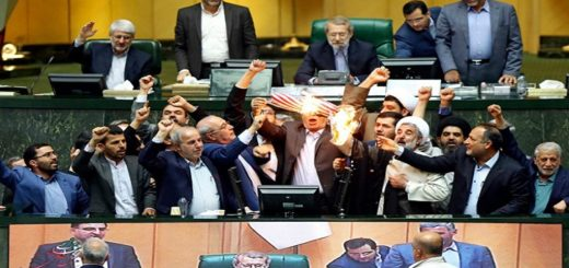 Iranian MPs Burn US Flag in Parliament