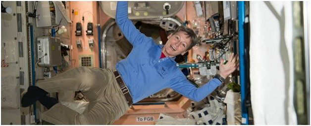Peggy Whitson in a Space Craft