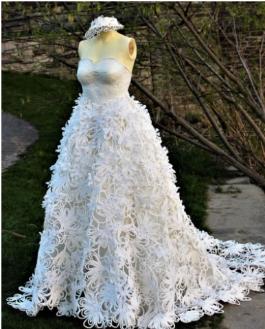Mimoza Haska Showed Her Creativity With This Spring Inspired Gown