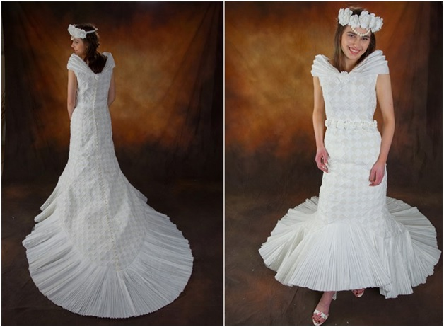 Beautiful Wedding Dress Created by the First Time Entrant Chae Rim of Centerville, Ohio
