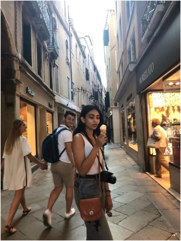 Trisha Penma Having Gelato When Her Sister Clicked Her Photo That Resembles the Distracted Boyfriend Meme