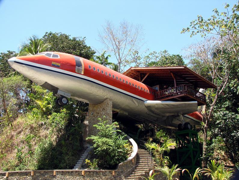 (Boeing 727 Airplane Which Has Been Revamped as a Vacation House in Costa Rica)