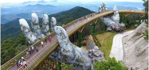 vietnam bridge top view