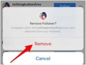 Instagram new feature let you remove followers