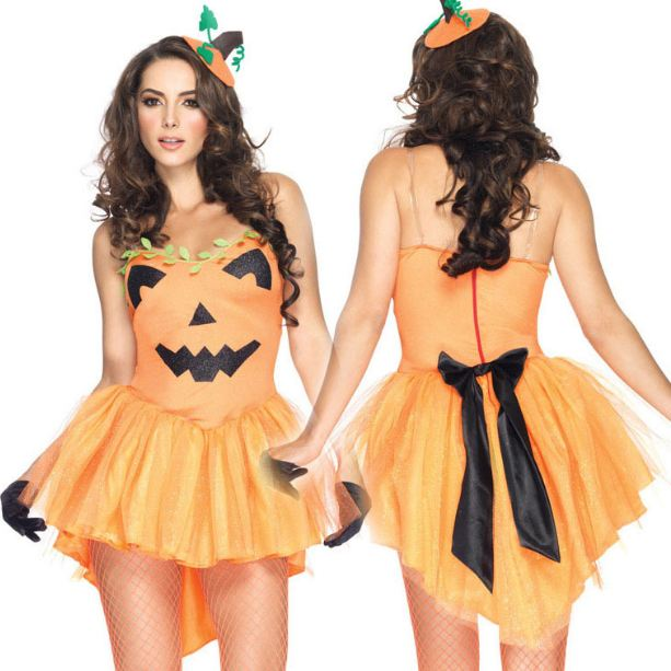 (SEXY PUMPKIN DRESS COSTUME)
