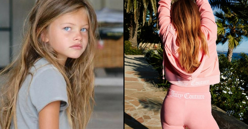(Thylane Blondeau Then and Now)