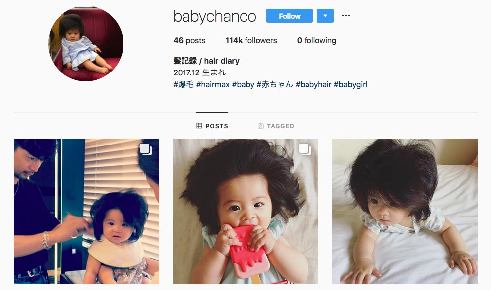 (Instagram Account of Baby Chanco)