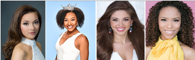 From Left to Right - Bridget Oei (First Runner-Up), Holli' Conway (Second Runner-Up), Taylor Tyson (Third Runner-Up), and Gabriela Taveras (Fourth Runner-Up)